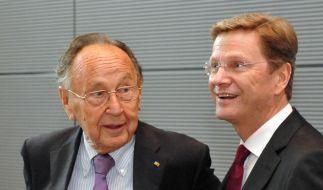 Genscher fordert Erneuerung der FDP (Foto)