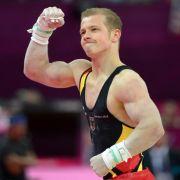 Genugtuung für Deutschlands Vorzeigeturner: Am letzten Tag der Turnwettbewerbe holte sich Fabian Hambüchen Gold.