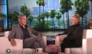 George Clooney bei Ellen DeGeneres