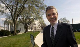 George Clooney rührt die Werbetrommel für Barack Obama. (Foto)