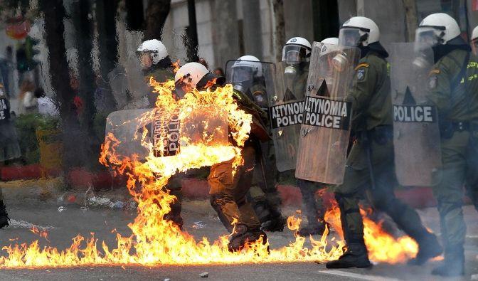 Gewalttätige Zusammenstöße in Athen (Foto)