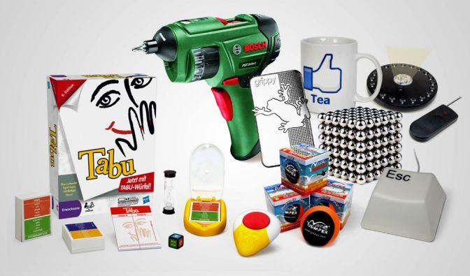 Gewinnen Sie mit news.de einen Akkuschrauber von Bosch, ein Tabu-Gesellschaftsspiel oder das WG-Paket von megagadgets.de. (Foto)