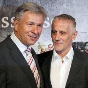 Glück im Unglück: Berlins Regierender Bürgermeister Klaus Wowereit und sein Lebensgefährte Jörn Kubicki. (Archivbild)