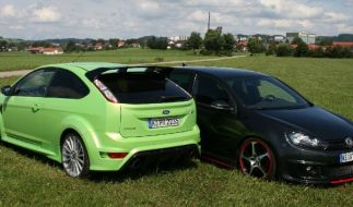 Golf GTI Abt vs.  Ford Focus RS (Foto)