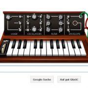 Google widmet sein Doodle heute Robert Moog. Internetuser können mit seinem Synthesizer Songs komponieren.
