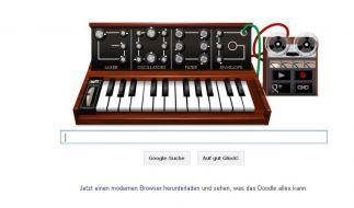 Google Doodle für Musik-Pionier Robert Moog (Foto)