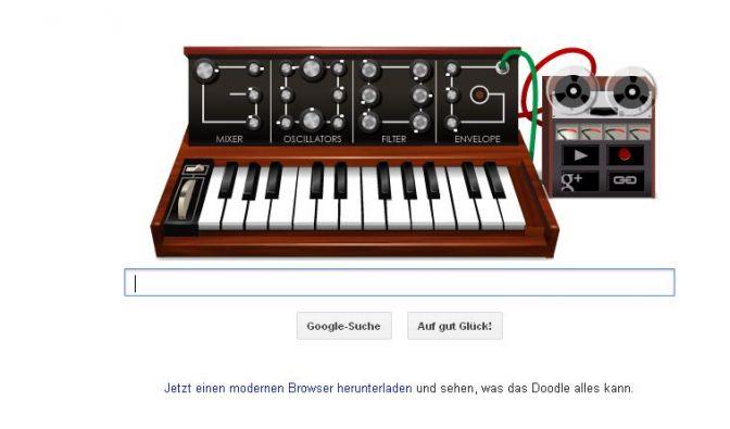 Google Doodle für Robert Moog (Foto)