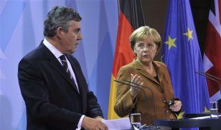 Gordon Brown und Angela Merkel (Foto)