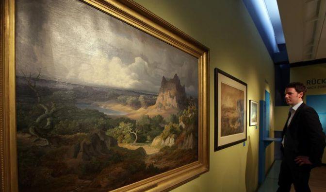 Gottfried Keller als Maler (Foto)