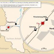 Grafik zum Zugunglück in Sachsen-Anhalt