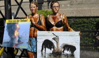 Greenpeace-Aktivisten protestieren gegen Tiefseebohrungen (Foto)