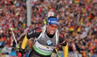 Greis will Biathlon-Karriere fortsetzen (Foto)