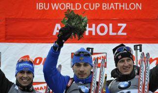 Greis Zweiter beim Biathlon-Sprint - Neuner krank (Foto)