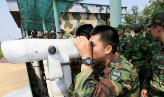 Grenzkontrolle in Nordkorea (Foto)