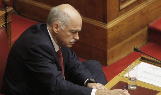 Griechenlands Premier Papandreou  (Foto)