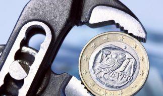 Griechische Euromünze (Foto)