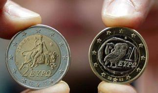 Griechische Euromünzen (Foto)