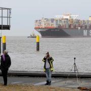 Größtes Containerschiff der Welt in Bremerhaven (Foto)