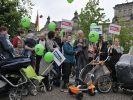 Grüne Kinderwagen gegen das Betreuungsgeld (Foto)