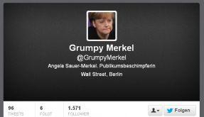 Grumpy Merkel erfreut sich auf Twitter größter Beliebtheit. (Foto)