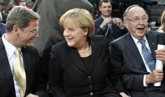 Guido Westerwelle (FDP) und Angela Merkel CDU) (Foto)