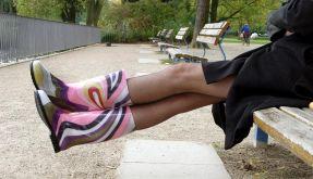 Gummistiefel mit Röcken und Hosen kombinieren (Foto)