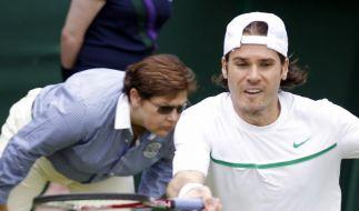 Haas in Wimbledon schon nach Runde eins draußen (Foto)