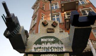 Hamburger demonstrierten mit Konzerten gegen steigende Mieten. (Foto)