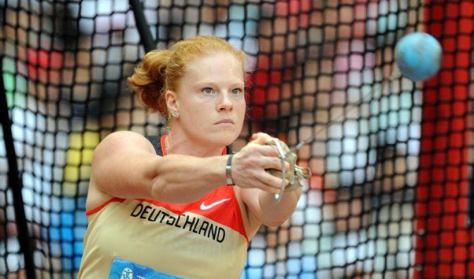 Hammerwerferin Betty Heidler träumt von einer Goldmedaille in Berlin. (Foto)