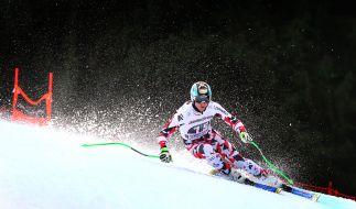 Hannes Reichelt beim ersten Abfahrtstraining am 28.01.2016 in Garmisch-Partenkirchen. Der Österreicher gilt als Favorit beim Ski alpin Weltcup der Herren. (Foto)