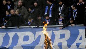 Hansa kontra Dresden: Fußball ohne Fans (Foto)