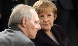 Hatten angeblich schon eine bessere Zusammenarbeit: Bundeskanzlerin Merkel und Finanzminister Schäub (Foto)