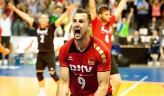 Hauptsache gewonnen: Volleyballer gewinnen Nervenspiel (Foto)