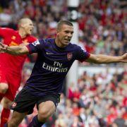 «He scores, when he wants»: Lukas Podolski ist auf dem besten Wege, der neue Held der Arsenal-Fans zu werden.