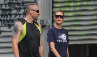 Heidi Klums Bodyguard begleitet sie auch beim Joggen. (Foto)