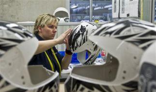 Helmproduktion in Deutschland (Foto)