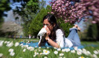 Heuschnupfen auf blühender Wiese (Foto)