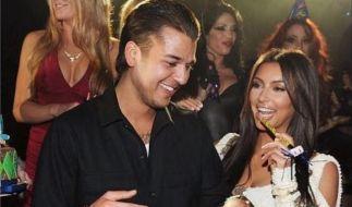 Hier feierten Rob und Kim Kardashian noch zusammen in Las Vegas. (Foto)