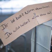 Hilfsprojekt in Stuttgart bietet Frierenden kostenlos warme Kleidung. (Foto)