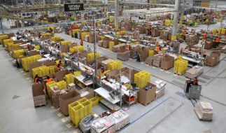 Hochbetrieb beim Versandhändler Amazon (Foto)