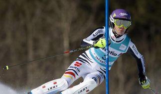 Höfl-Riesch Zweite nach erstem Slalom-Lauf (Foto)
