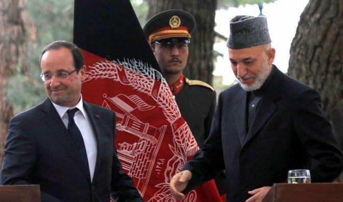 Hollande: Soldaten bleiben auch nach 2012 in Afghanistan (Foto)