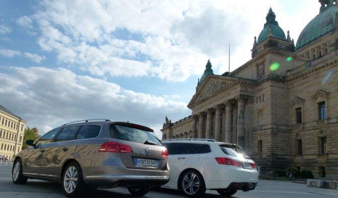 Honda Accord Tourer vs. VW Passat Variant (Foto)