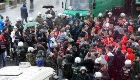 Hooligan-Randale trüben Pokal-Partie in Berlin (Foto)
