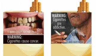 Horror-Bilder sollen amerikanische Raucher schocken (Foto)