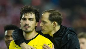 Hummels und Dortmund-Trainer Thomas Tuchel: Bisher hielt sich der BVB-Coach zu den Zukunftswünschen seines Spielers bedeckt. (Foto)
