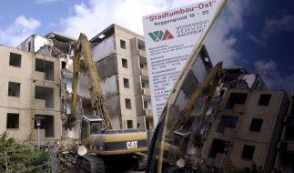 Hunderttausende Wohnungen werden in Ostdeutschland abgerissen - andernorts fehlen sie. (Foto)