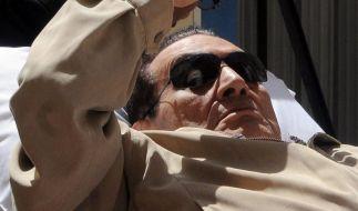 Husni Mubarak soll nach einem Herzanfall im Koma liegen. (Foto)