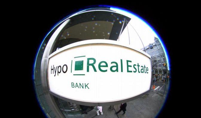 Hypo Real Estate verbucht Gewinneinbruch (Foto)