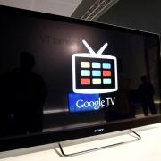 Ein Sony NSX-46GT1 Hybrid-TV mit Google TV steht auf der Ifa 2011 in Berlin.